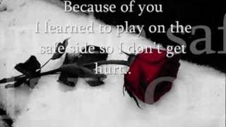 Kelly Clarkson- Because Of You (Lyrics.)