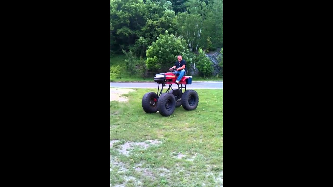 Jacked Up Lawn Tractor On 36s Youtube