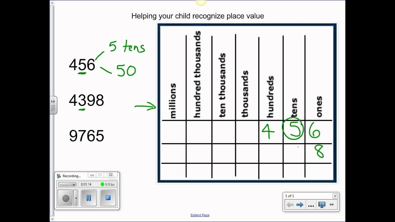 using place value chart - YouTube