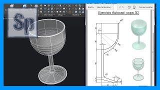 Autocad - Ejercicio paso a paso dibujar copa 3D