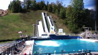Freestlye Aerial Skiing At Lake Placid Olympic Training