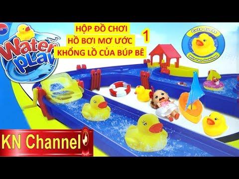 ĐỒ CHƠI CÔNG VIÊN NƯỚC KHỔNG LỒ CỦA BÚP BÊ CHIBI 1   WATER PLAY POOL TOY FOR KID