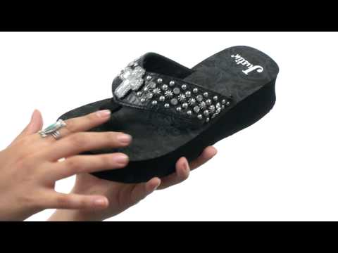 Justin Crystal Cross and Star Studded Wedge SKU:#8272578