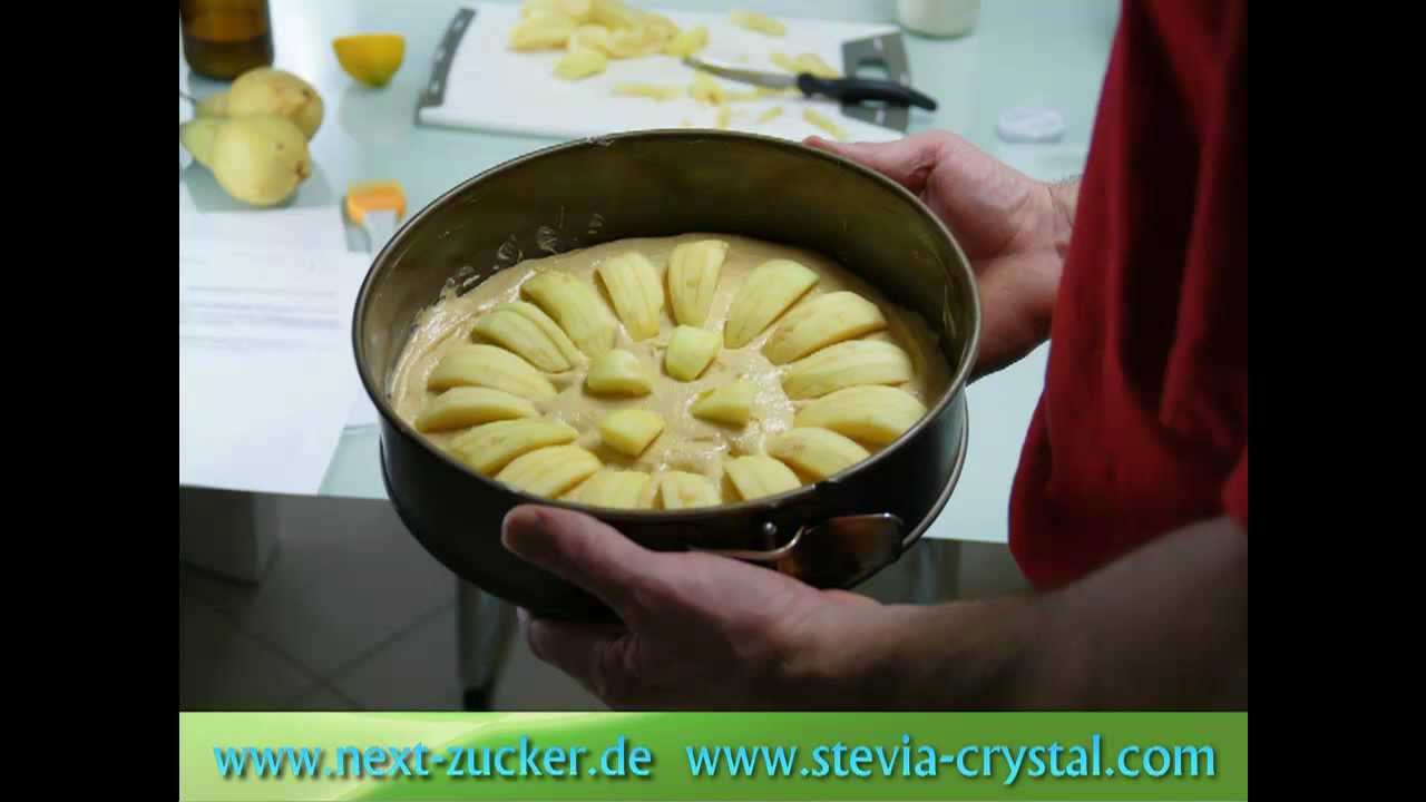 apfelkuchen mit stevia selber backen youtube. Black Bedroom Furniture Sets. Home Design Ideas