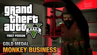 GTA 5 Mission #54 Monkey Business [First Person Gold
