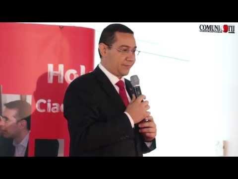 Victor Ponta la inaugurarea centrului Vodafone Shared Services, care a obținut ajutor de stat