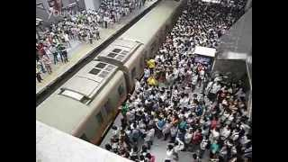 Morning rush hour in Beijing Railway station..