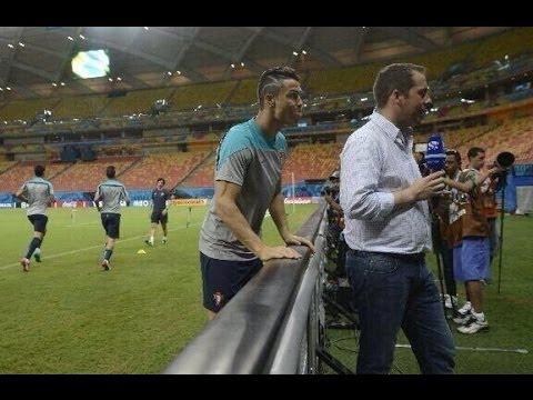 Cristiano Ronaldo bromeó con un periodista | Cristiano to joke with a journalist