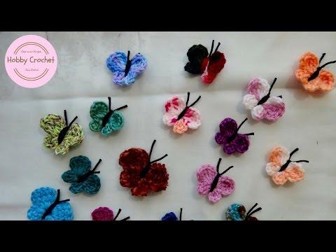 Mariposas a crochet paso a paso.