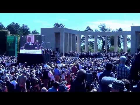 President Obama at Colleville American Cemetery on D-Day 70