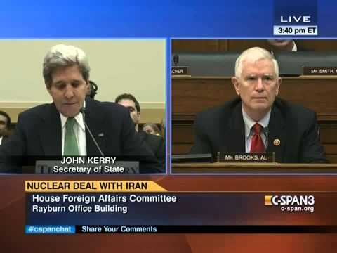 Brooks Questions Sec. Kerry on Iran Nuclear Weapons and Israel's Security