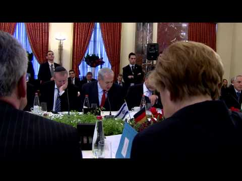 PM Netanyahu and Chancellor Merkel at fifth G2G meeting between Israeli and German governments