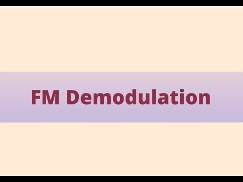 Fm demodulation, stages and types of Demodulators ( PREZI )