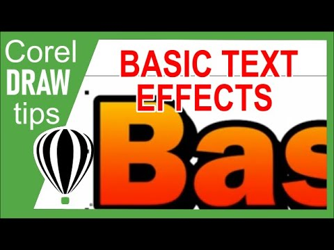 Basic text effects in CorelDraw -xGwrdTCY2xE