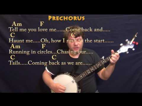 The Scientist (Coldplay) Banjo Cover Lesson in Am with Chords/Lyrics