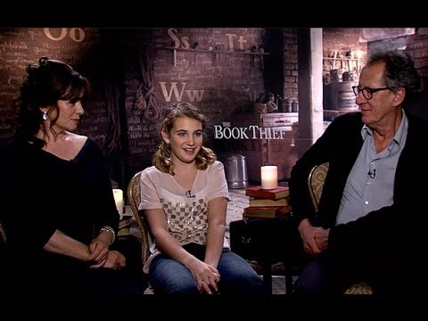 The Book Thief Official Trailer & Cast Interview: Sophie Nelisse, Geoffrey Rush, & Emily Watson