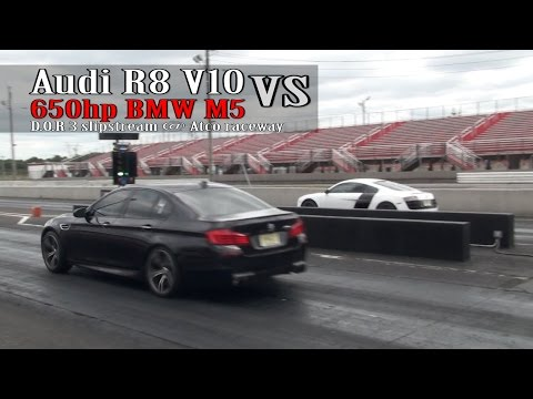 Audi R8 V10 vs 650hp BMW M5