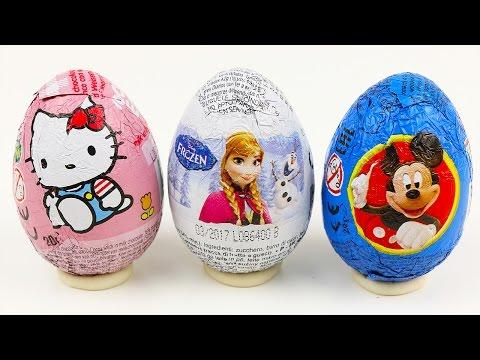 Disney Peppa Pig Kinder Surprise Eggs Frozen Play Doh Hello Kitty Egg