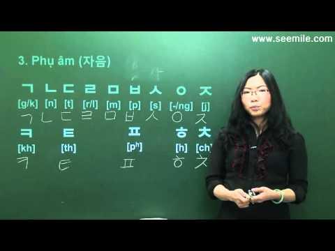 (Vui học hội thoại tiếng Hàn) 2.Bảng chữ cái 한글 모음, 자음