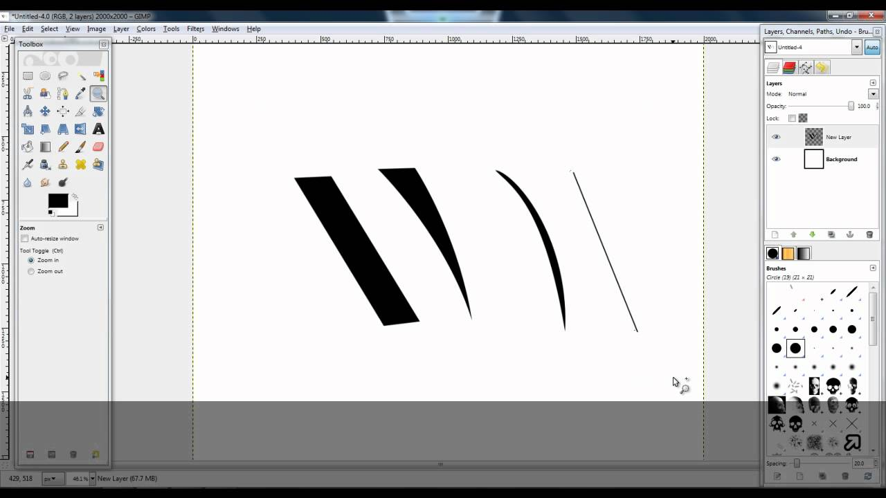 Drawing Lines Using Gimp : Different lines with paths tool gimp youtube