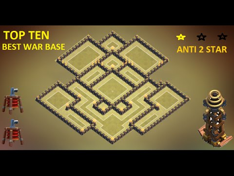 CLASH OF CLANS - TOWN HALL 9 BEST TH9 WAR BASE ANTI GOWIPE, LAVA & BALLOON ANTI 2 STAR 2015 + REPLAY