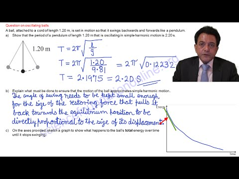 Simple Harmonic Motion: Oscillating balls exam question answer explanation - NCEA Physics Level 3