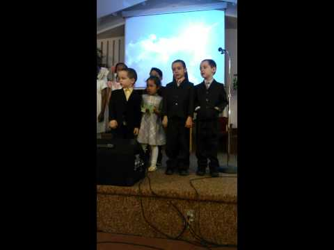 Easter sunday boys singing