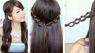Chain Braid Headband Hairstyle For Medium Long Hair