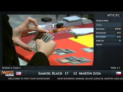 Pro Tour Gatecrash Round 4: Sam Black vs. Martin Juza