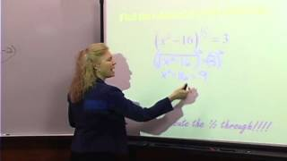 College Algebra: Lecture 13 - Solving Radical Equations