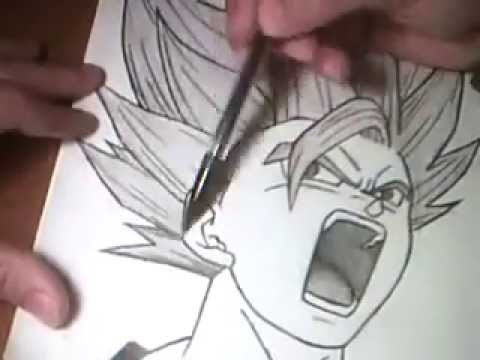how to draw gohan ssj2 full body