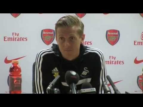 Garry Monk after Arsenal v Swansea - 25.3.2014