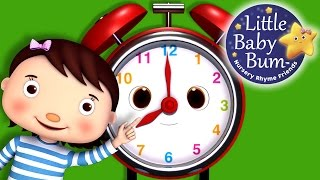 Telling Time Song   What Time Is It?   Nursery Rhymes   Original Song by LittleBabyBum!