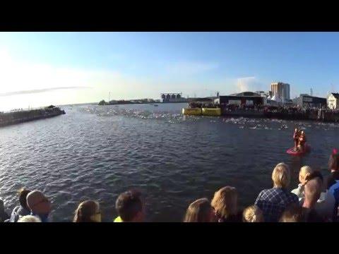 The start of Ironman Kalmar 2014.