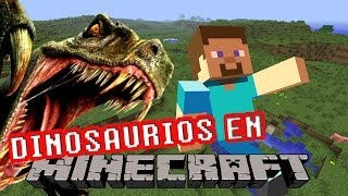 ¿¡DINOSAURIOS EN MINECRAFT!? L Review Lots Of Mobs Mod L