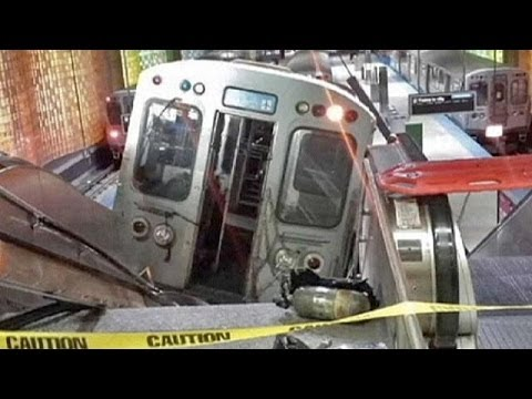 Dozing driver derails train at Chicago O'Hare International Airport