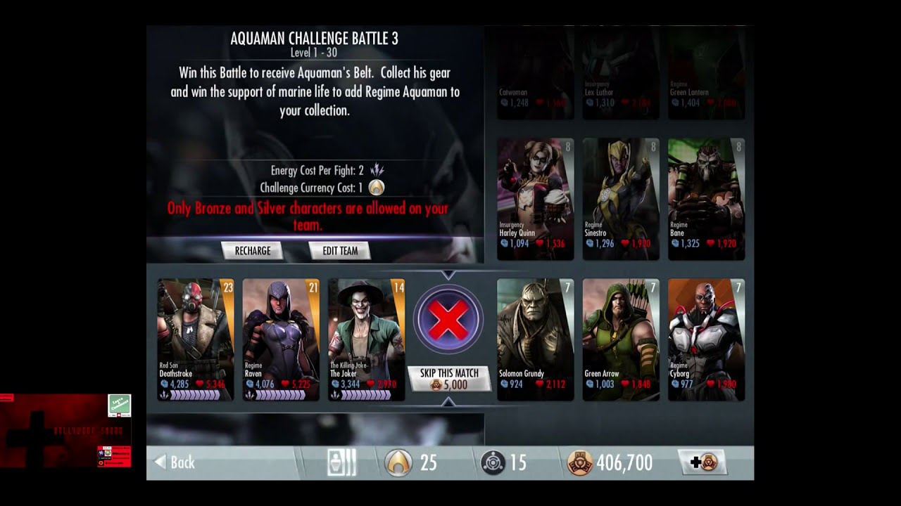 All Challenge Characters In Injustice