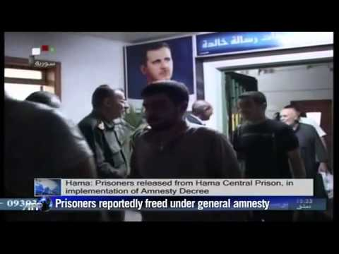 Syrian state TV shows prisoner release in central Hama