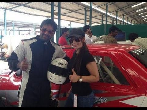 Jai Gets Racing Tips From Narain Karthikeyan - Thanthi TV