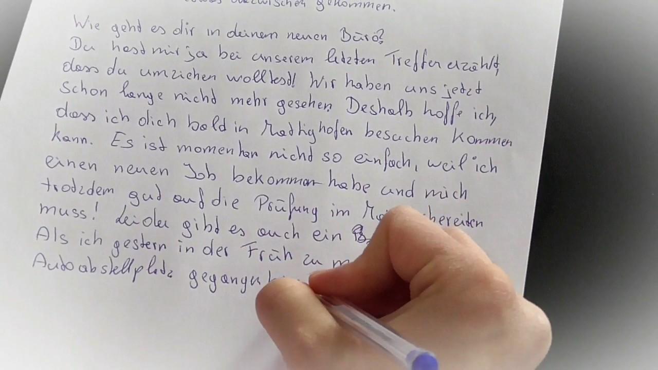 Deutsch Prüfung Brief B 1 Und A 2 Schreiben 2 Private Briefe