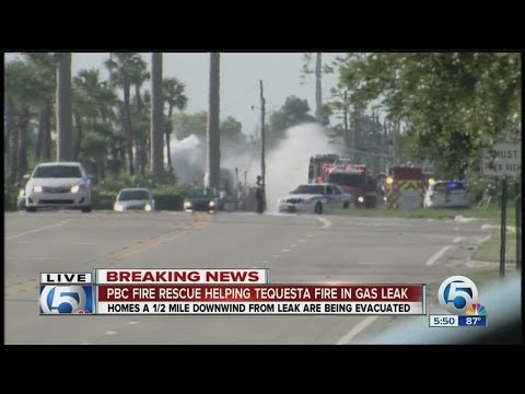 Propane tank leak in Tequesta