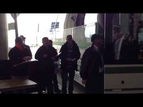 Nashville Predators Team Bus @Rogers Arena March.19 vs Vancouver Canucks
