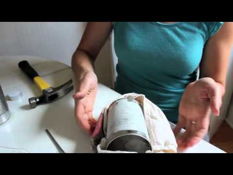 How to make lanterns with tin cans youtube for Things made out of tin cans