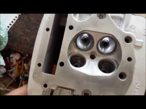 Montagem do Motor da XT   montagem das válvulas no cabeçote
