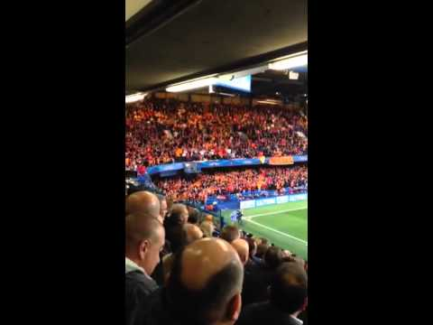 Singing Chelsea Fans v 3000 Singing Galatasaray Fans - 18 March 2014 - Drogba's return