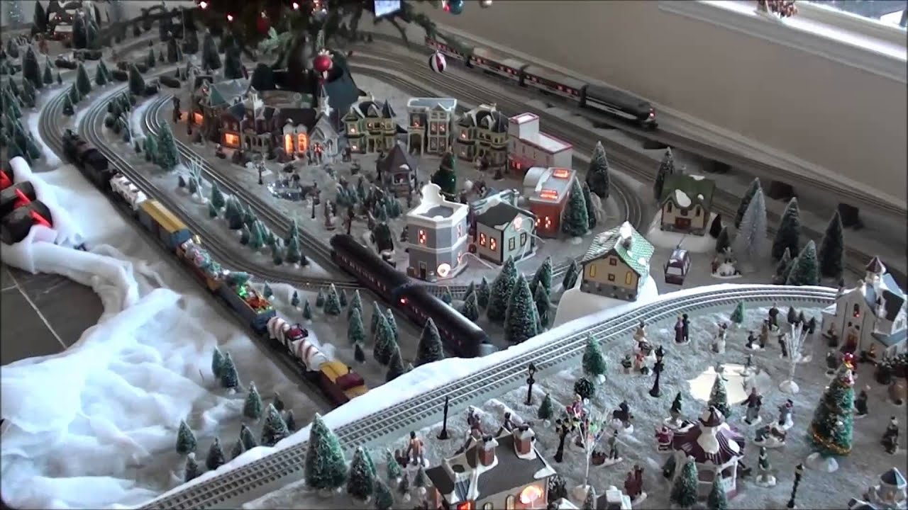 Lionel Train Layout Christmas 2013 YouTube