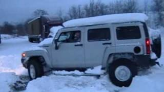 Hummer H3 Snow driving, videos