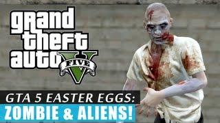 GTA 5: Zombie & Frozen Aliens EASTER EGG! HD