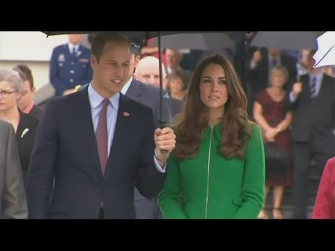 Kate and William visit war memorial in Cambridge, New Zealand