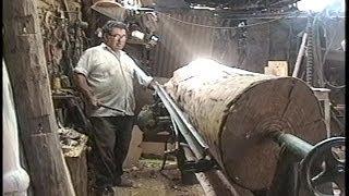 Torneado de columna en madera